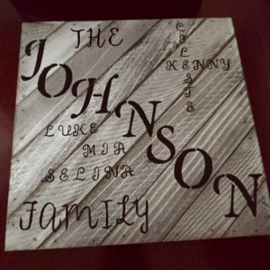 FB IMG 1573965792556 Custom wood family sign hand painted